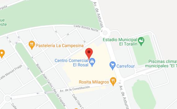 mapa Google el Rosal