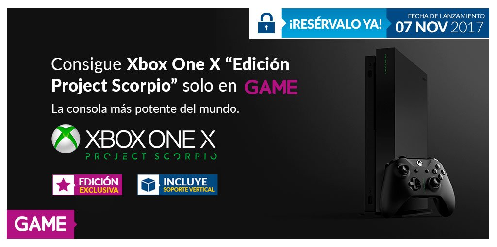 XBOX ONE X EDICIÓN PROJECT SCORPIO, EL PACK MÁS COMPLETO, SOLO EN GAME