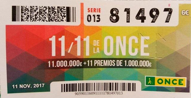 Sorteo extra de la ONCE para el 11/11