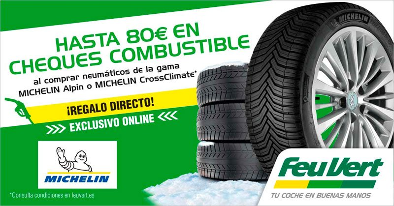 Neumáticos MICHELIN + Cheques de carburante
