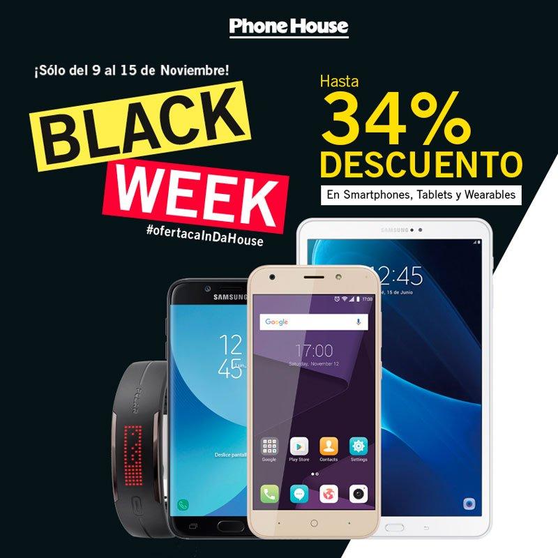 Black Week con descuentos de hasta 34% en smartphones, tablets y wearables
