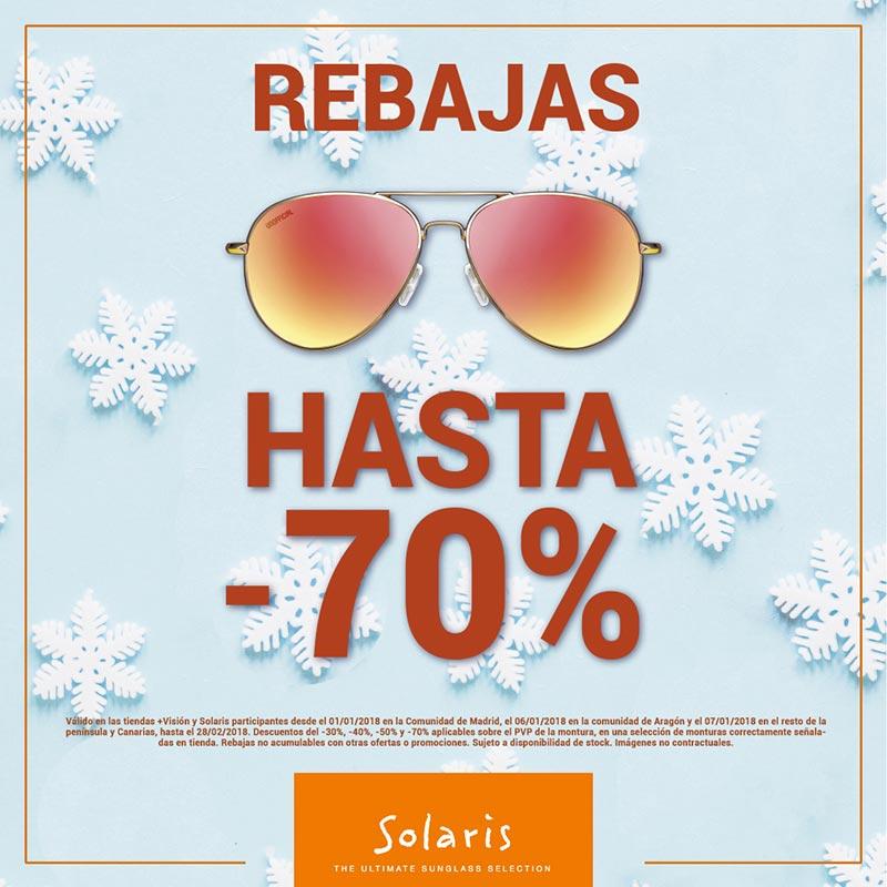 Rebajas hasta el -70% en gafas de sol en Más Visión