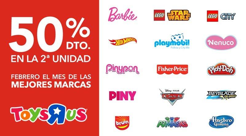 En ToysRus 50% de descuento en la segunda unidad