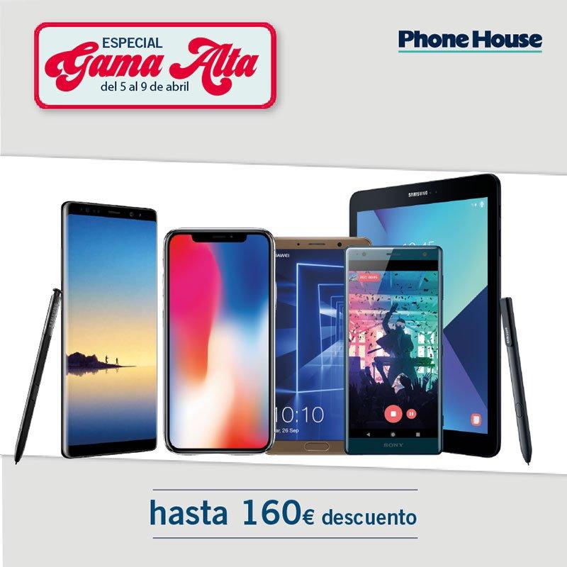 Especial gama alta en smartphones y tablets