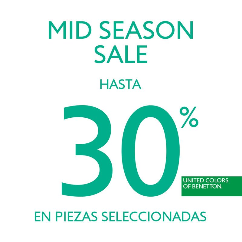 Mid Season Sale en United Colors of Benetton
