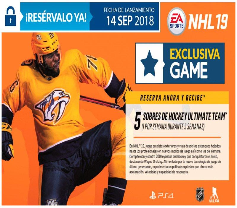NHL 19 EXCLUSIVO EN GAME