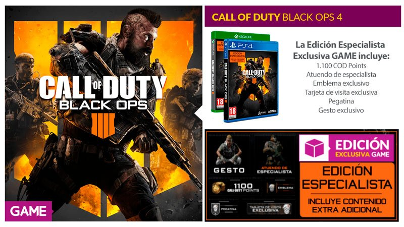CALL OF DUTY: BLACK OPS 4 LLEGA A GAME