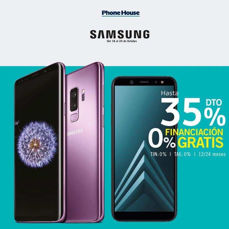 Descuentos hasta 35% en Samsung