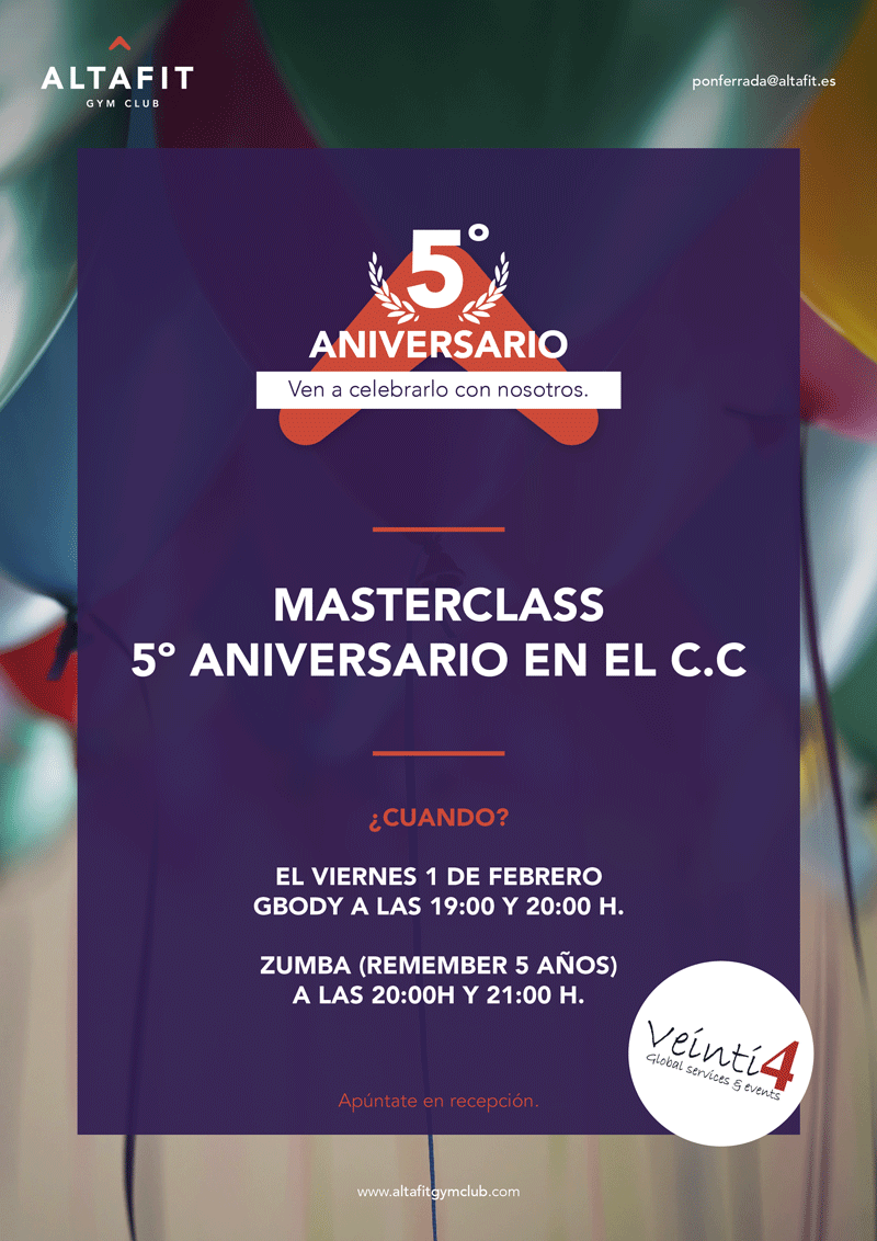 5ºANIVERSARIO ALTAFIT GYM CLUB 💪🏻