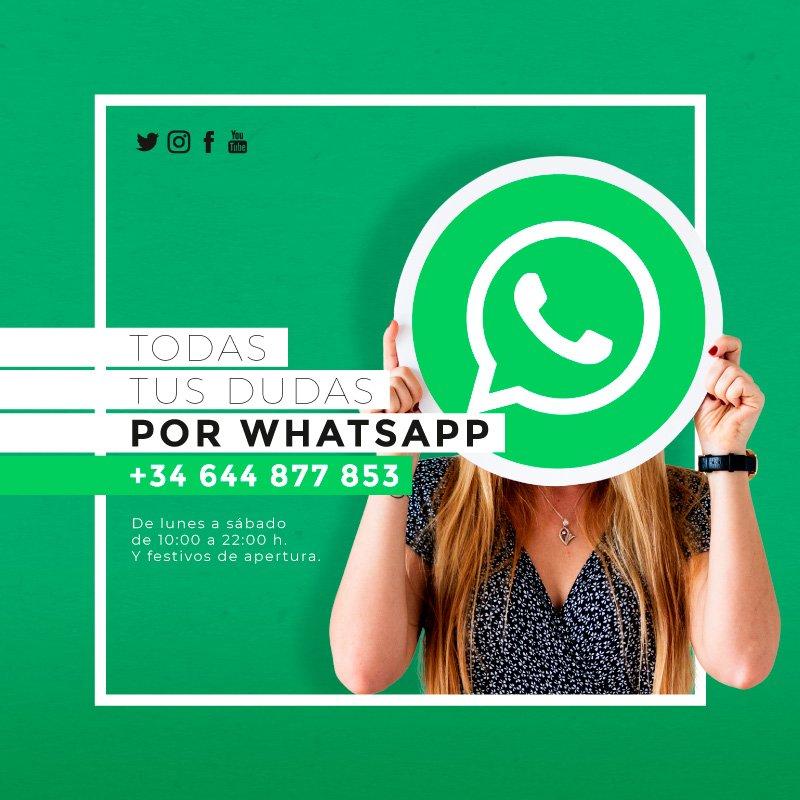 Consulta tus dudas por WhatsApp